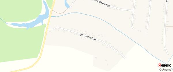 Улица Симагой на карте деревни Эльбарусово с номерами домов