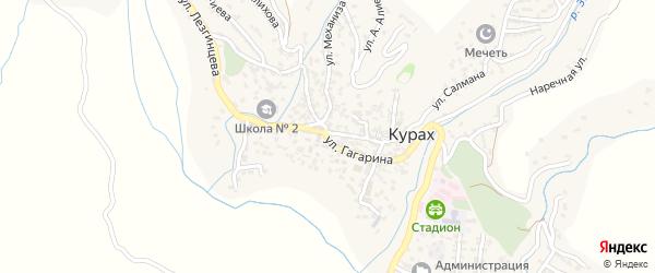 Улица Гагарина на карте села Кураха с номерами домов