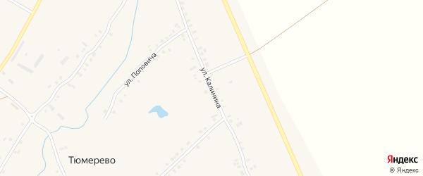 Улица Калинина на карте деревни Тюмерево с номерами домов