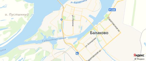 Карта Балаково с районами, улицами и номерами домов