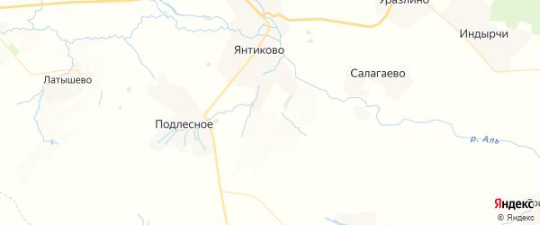 Карта Яншихова-Норвашского сельского поселения республики Чувашия с районами, улицами и номерами домов