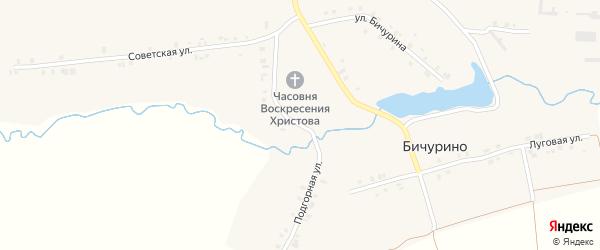 Подгорная улица на карте села Бичурино с номерами домов