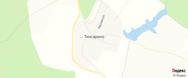 Карта деревни Тинсарино в Чувашии с улицами и номерами домов