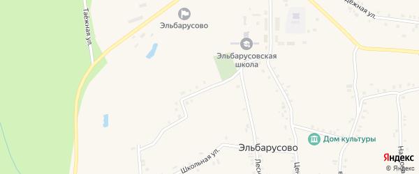 Новошкольная улица на карте деревни Эльбарусово с номерами домов