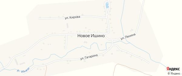 Улица Ленина на карте деревни Новое Ишино с номерами домов