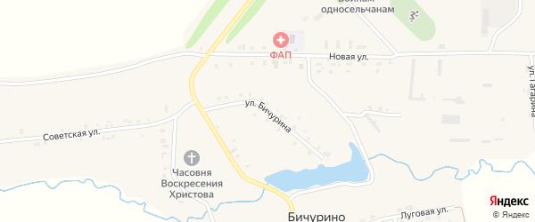 Улица Бичурина на карте села Бичурино с номерами домов