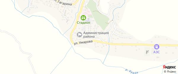 Улица Назаралиева на карте села Кураха с номерами домов