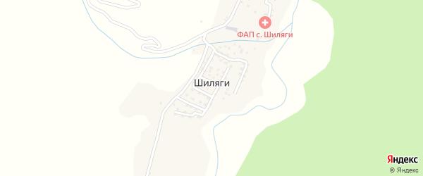 Тупиковая улица на карте села Шиляги с номерами домов