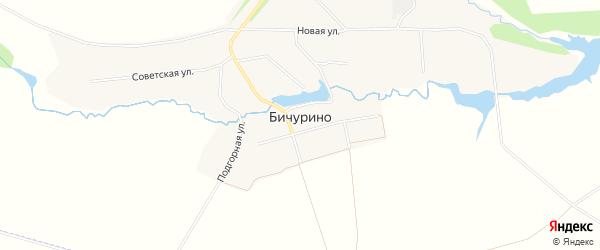 Карта села Бичурино в Чувашии с улицами и номерами домов