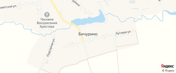 Советская улица на карте села Бичурино с номерами домов
