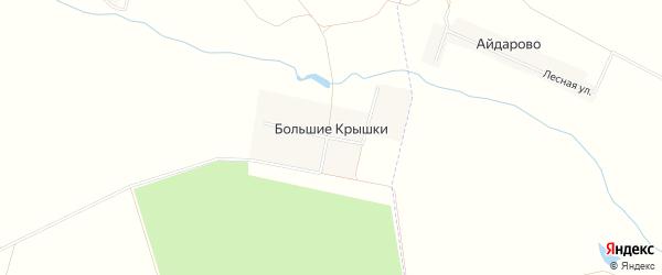 Карта деревни Большие Крышки в Чувашии с улицами и номерами домов