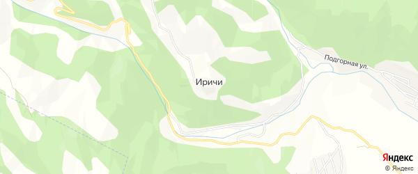 Карта села Иричей в Дагестане с улицами и номерами домов