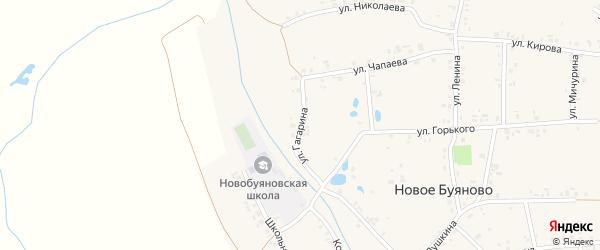 Улица Гагарина на карте деревни Новое Буяново с номерами домов