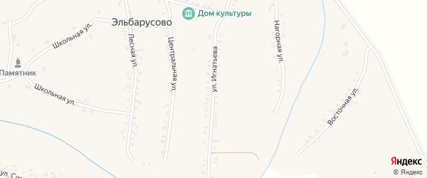 Улица Игнатьева на карте деревни Эльбарусово с номерами домов