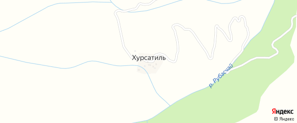 Горная улица на карте села Хурсатиля с номерами домов
