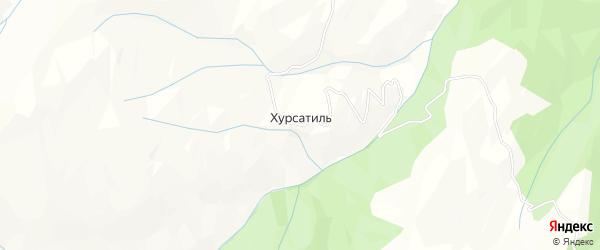 Карта села Хурсатиля в Дагестане с улицами и номерами домов