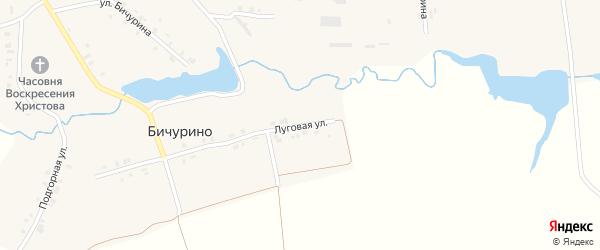 Луговая улица на карте села Бичурино с номерами домов