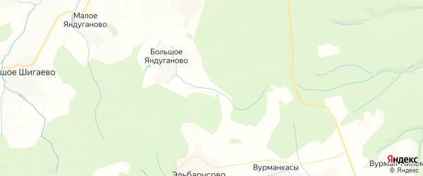 Карта Эльбарусовского сельского поселения республики Чувашия с районами, улицами и номерами домов