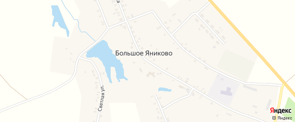 Академическая улица на карте деревни Большое Яниково с номерами домов