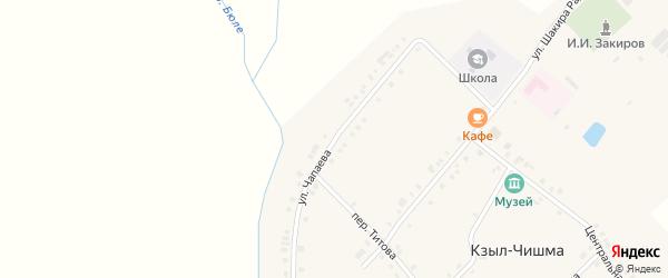 Улица Чапаева на карте деревни Кзыла-Чишма с номерами домов