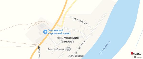 Улица Автомобилистов на карте поселка Анатолии Зверева с номерами домов