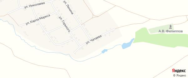 Улица Чапаева на карте деревни Старое Буяново с номерами домов