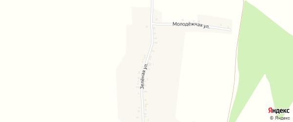 Зеленая улица на карте деревни Первые Синьялы с номерами домов