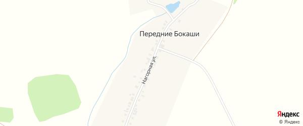 Нагорная улица на карте деревни Передние Бокаши с номерами домов