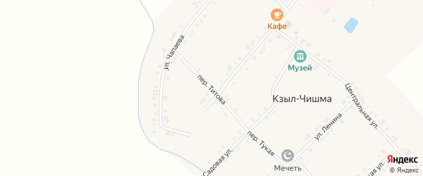 Переулок Титова на карте деревни Кзыла-Чишма с номерами домов
