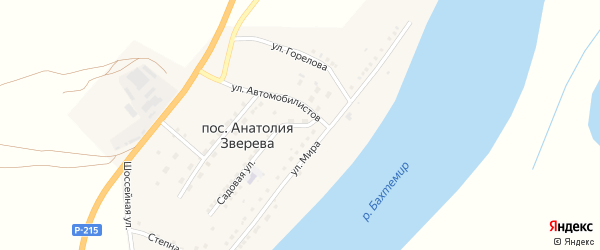 Школьная улица на карте поселка Анатолии Зверева с номерами домов