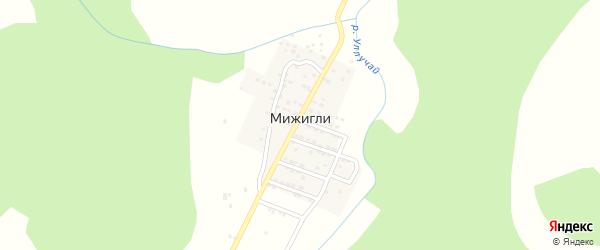 Набережная улица на карте села Мижигли с номерами домов