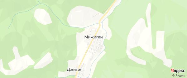 Карта села Мижигли в Дагестане с улицами и номерами домов