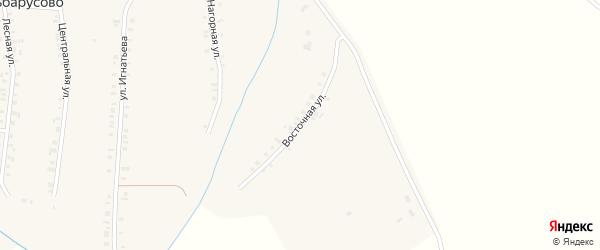 Восточная улица на карте деревни Эльбарусово с номерами домов