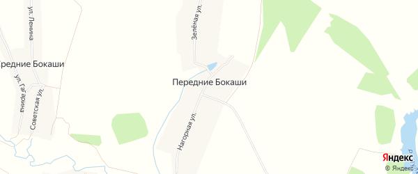 Карта деревни Передние Бокаши в Чувашии с улицами и номерами домов