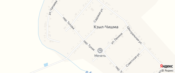 Садовая улица на карте деревни Кзыла-Чишма с номерами домов