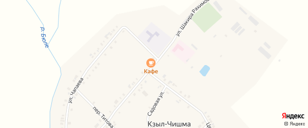 Улица Ш.Рахимова на карте деревни Кзыла-Чишма с номерами домов