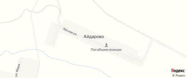 Лесная улица на карте деревни Айдарово с номерами домов
