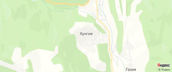 Карта села Хунгии в Дагестане с улицами и номерами домов