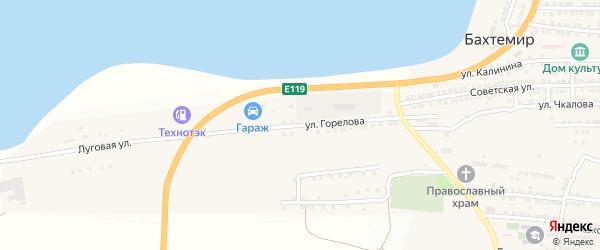 Улица Горелова на карте села Бахтемира с номерами домов