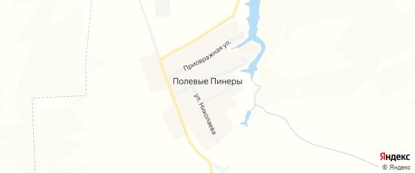 Карта деревни Полевые Пинеры в Чувашии с улицами и номерами домов