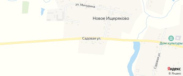 Садовая улица на карте деревни Новое Ищеряково с номерами домов