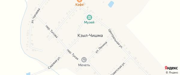 Комсомольская улица на карте деревни Кзыла-Чишма с номерами домов
