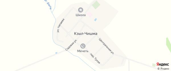 Карта деревни Кзыла-Чишма в Чувашии с улицами и номерами домов