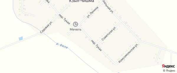 Переулок Г.Тукая на карте деревни Кзыла-Чишма с номерами домов