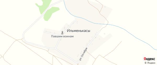 Первомайская улица на карте деревни Ильменькас с номерами домов