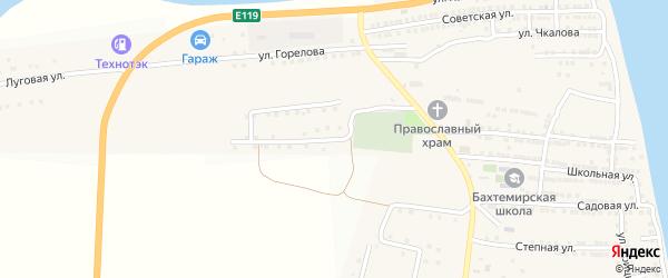 Олимпийская улица на карте села Бахтемира с номерами домов