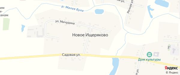 Улица Мичурина на карте деревни Новое Ищеряково с номерами домов