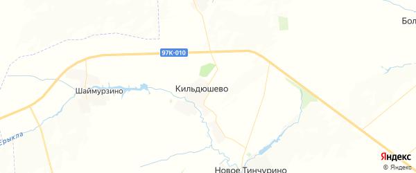 Карта Кильдюшевского сельского поселения республики Чувашия с районами, улицами и номерами домов
