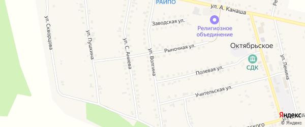 Улица В.Волгина на карте Октябрьского села с номерами домов