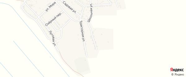 Тракторный переулок на карте села Хошеутово с номерами домов